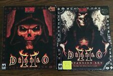 Diablo 2 & Lords Of Destruction Expansion Set PC Game Big Box VTG Software