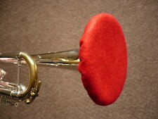 Trumpet Felt Mute Double Thickness Red w/ Yellow Lining Demo Video Cornet Hat