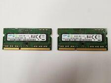 8GB For Samsung 2X 4GB DDR3L 1600Mhz 2RX8 PC3L-12800 204Pin SODIMM Laptop Memory