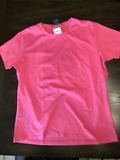 NEW RALPH LAUREN SPORT POLO CREWNECK T SHIRT ROSE PINK SHORT SLEEVE PONY LARGE