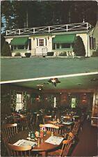 Postcard Pineland Restaurant Interior Falmouth Maine  C4