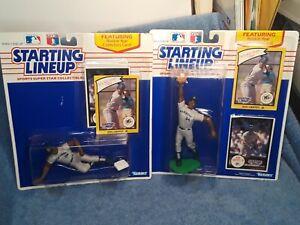 1990 ROOKIE STARTING LINEUP SLU KEN GRIFFEY, JR SET (2) Sliding Catching