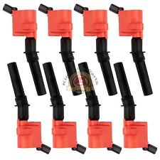 8Pack Super Ignition Coil Ford F150 Expedition 5.4L V8 Lincoln Mercury DG508 RED