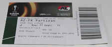 Ticket for collectors EL AZ Alkmaar Partizan Beograd 2015 Holland Serbia