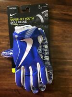 NIKE Vapor Jet 4 Skill Players Royal Blue White Football Gloves Youth MED New