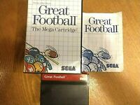 Vintage SEGA Great Football Mega Cartridge Video Game 1987 Complete Game Manual