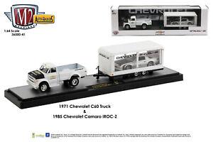 M2 Machines Auto Haulers 1970 Chevrolet C60 Truck & 1985 Chevrolet Camaro (cart)