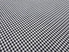 Stoff 100% Baumwolle 2 mm Zefir Karo weiß schwarz kariert Kleiderstoff Dekostoff