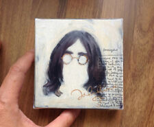 THE BEATLES - JOHN LENNON, Tiny painting printed on stretched canvas