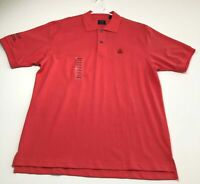 New IZOD Macy's Men's Short Sleeve Pullover Polo Shirt Large L Red Casual
