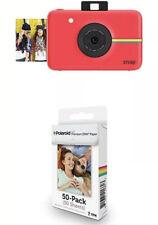 Polaroid Snap Instant Digital Camera (Red) & 2x3  Zink Zero Photo Paper 50-Pack