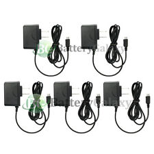 5 Micro USB Home Wall AC Charger for Blackberry HTC LG Motorola Samsung Phones