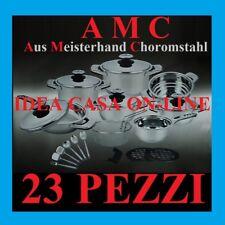 AMC LUXORY BATTERIA DI PENTOLE 23 PEZZI SPECIALE FONDO PER INDUZIONE