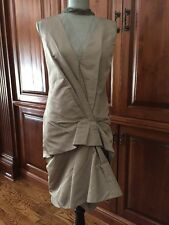 Runway New Marc Jacobs Tulle Trim Silk Radzimir Dress Size 6 Taupe 1920's Chic!