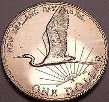 Rare Gem Unc New Zealand 1974 Dollar~50,000 Minted~Great Egret~Excellent~Fr/Ship