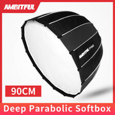 AMBITFUL Portable 90CM Deep Parabolic Softbox Bowens Mount Reflector Softbox