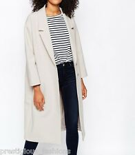 Monki Tailored Notch Lapels Collar Scuba LongLine Boyfriend Cocoon Coat M 12 40