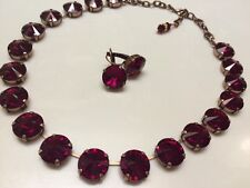Swarovski Crystal Elements Rivoli Necklace Large 14mm Siam Red Crystal Cupchain