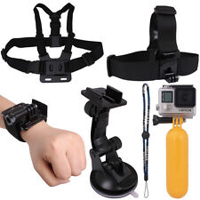 Head+Wrist+Chest Strap+Floating Grip+Suction Cup Mount for GoPro Hero 1/2/3/3+/4