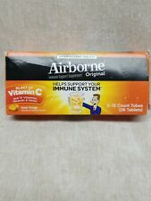 Airborne Immune Support Supplement Original Zesty Orange Effervescent 36 Tablets