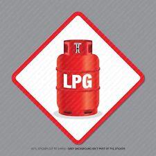 2 x LPG Warning Stickers - Caravan - Camping - Workshop - Business - SKU5303