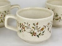 Vintage Floral Mug Lenox Temper-Ware Made in USA Set of 3 Tea Cup Coffee Lot