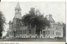 public school waukon iowa postcard dated 1910