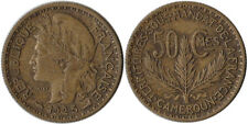 1925 Cameroon 50 Centimes Coin KM#1 Key Date