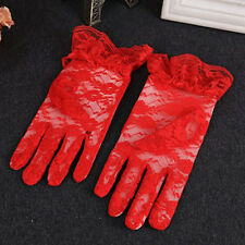 Women Trendy Bridal Evening Wedding Party Prom Driving Costume Lace Gloves 1Pair