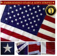 USA American Flag 3x5 FT Embroidered Stars Sewn Stripes (Premium Oxford Quality)