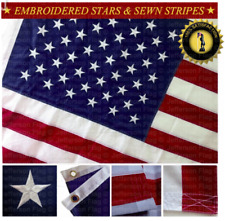U.S. American Flag 3'x5' FT Embroidered Stars Sewn Stripes