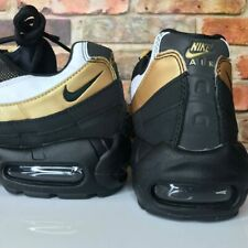 a959cc554ad4f2 Nike Air Max 95 OG Mens Size 7 Black Metallic Gold White At2865 002