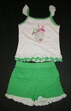 NEW Big Fish Sweet Potatoes 2 Piece Outfit Flamingo Top & Dot Shorts 6 Year Girl