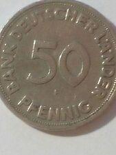 """50 Pfennig 1949 Bank Deutscher Länder  """"F """"    Guter Zustand"""