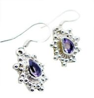 Purple 925 Sterling Silver Natural exquisite Amethyst gemstone Earring AU gift