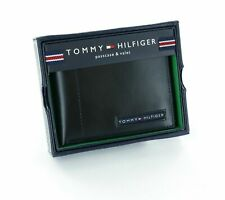 "Tommy Hilfiger Men's  Leather Passcase  Cambridge Wallet Black    ""STOCK-IN-UK"""
