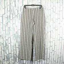 $350 Max Mara Weekend Wide Leg Striped Silk Blend Trouser Pant NWT Italian US 10