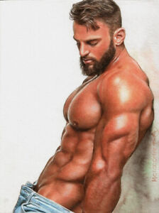 PRINT of Artwork Drawing Male Gay Interest MCicconneT ~ ECHO IN THE DISTANCE