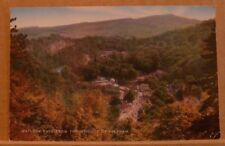Posted 1977 Postcard Derbyshire, Matlock Bath from the heights of Abraham