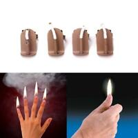 4PCS Magician's Fire Flames At Finger Metal Gimmick Trick Prop for Real Ma Best