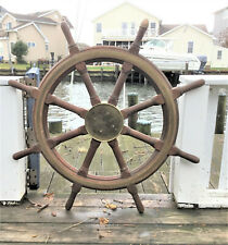 "144 yr. Old Antique 36"" Ship Wheel"