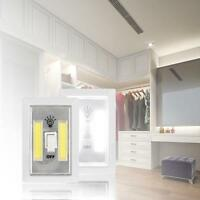 3W COB LED Wall Switch Wireless Closet Cordless Night Light Battery Operated New