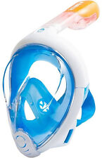 TRIBORD SUBEA EASYBREATH Snorkel Mask Full Face Snorkeling BLUE Swimming M/L