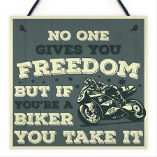 Motorbike Man Cave Hanging Plaque Garage Vintage Gift Motorcycle Biker Sign