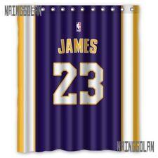 "New Lebron James 23 LA Lakers Away Basket Ball Custom Shower Curtain 60 x 72 """