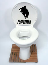 SUPERMAN Style (POOPERMAN) Toilet Seat Sticker Fun Decal Vinyl  new design