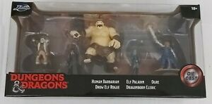 Jada Dungeons And Dragons Diecast Figures (Ogre-Elf-Paladin-Cleric-Barbarian)