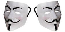 2 Halloween de V de VENGANZA Máscara Facial vestido elaborado de Guy Fawkes anónimo Hacker