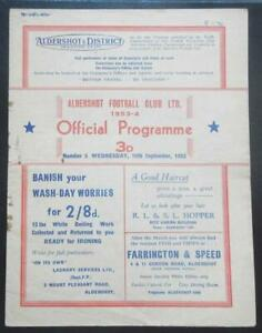 ALDERSHOT v SHREWSBURY TOWN - 1953/54 - Division 3 South