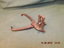 Vintage Shears Scissors Leather Cutting Brass Gauge Collectible Antique Tool